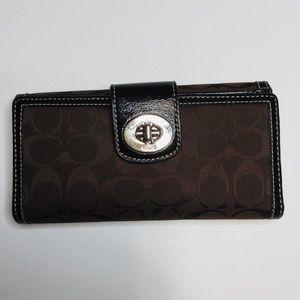 Coach Signature Wallet & Checkbook Holder